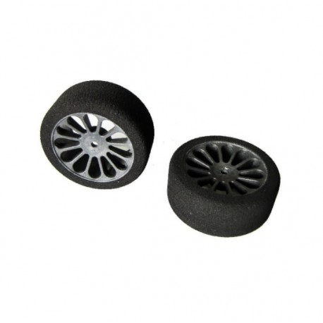 PAIR FRONT TIRES SH37 PRE TRUED 62mm BY CAPRICORN