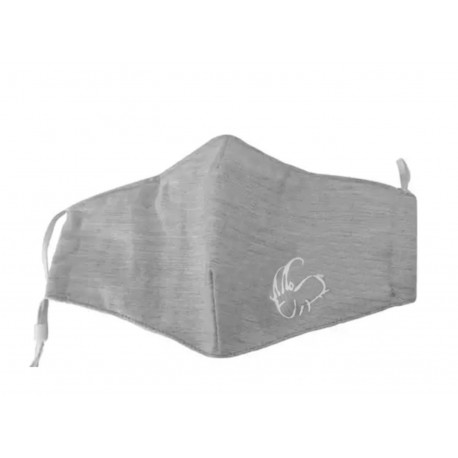 Cotton protective mask grey (2 filters included)